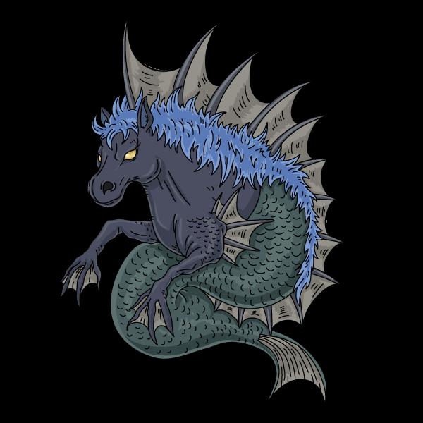 魔海馬のイラスト