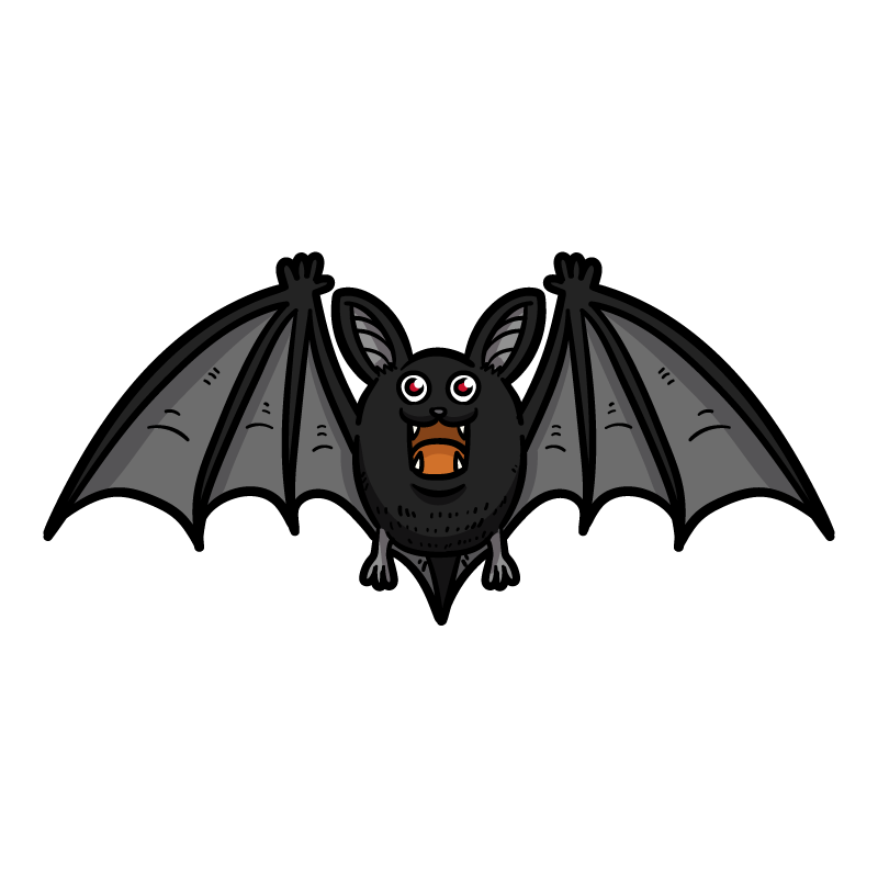 吸血コウモリのイラスト