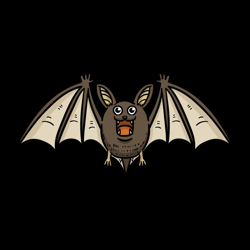 オオコウモリのイラスト
