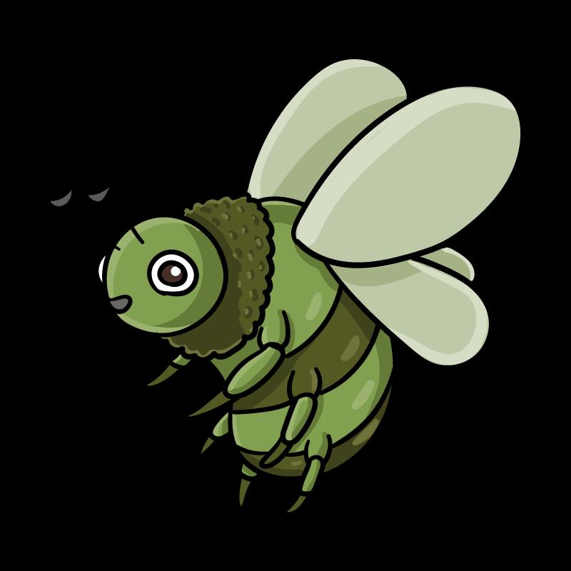 モリミツバチのイラスト