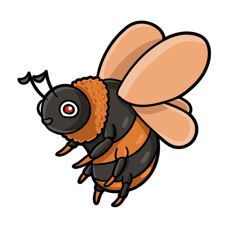 毒ミツバチのイラスト