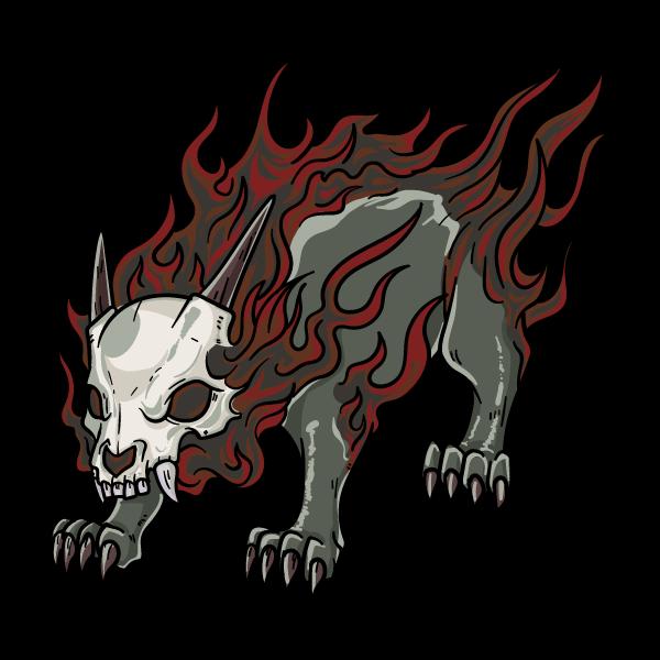 黒炎魔獣のイラスト