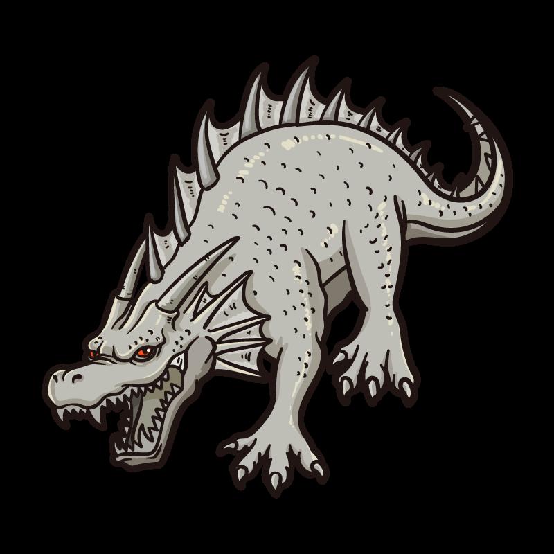 ドラゴンスタチューのイラスト