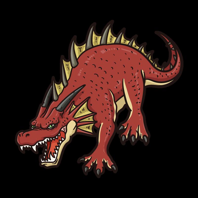 レッドドラゴンのイラスト