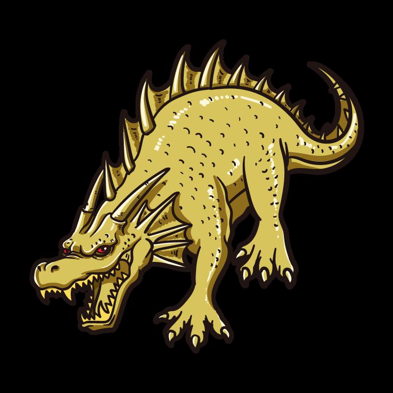 ゴールデンドラゴンのイラスト