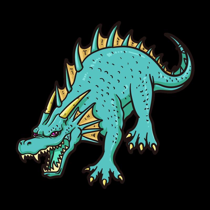 エメラルドラゴンのイラスト