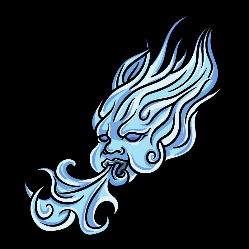 鬼火のイラスト