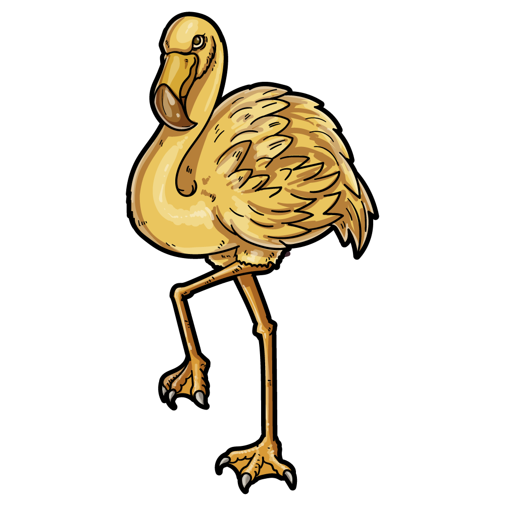 ゴールデンフラミンゴのイラスト