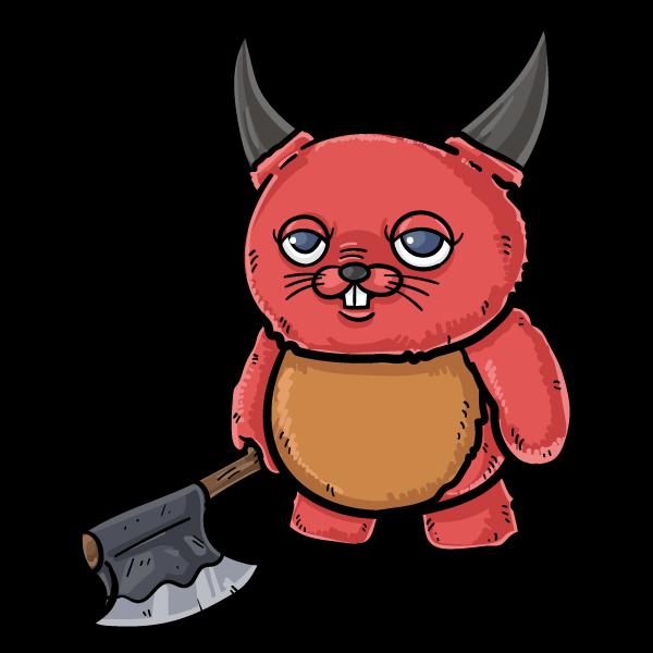 悪魔のぬいぐるみのイラスト