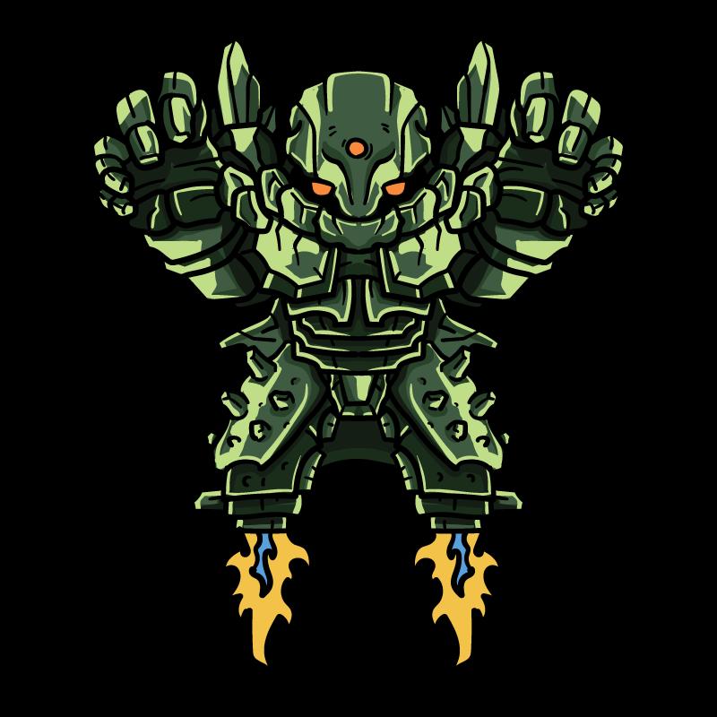 緑鉛鉱の魔人のイラスト