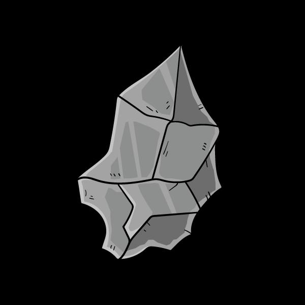 石の欠片のイラスト