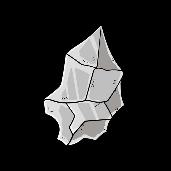 鉄鉱石の欠片のイラスト
