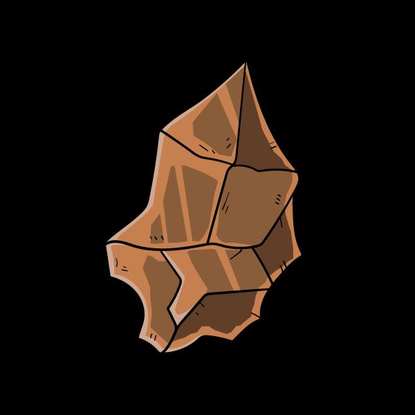 銅鉱石の欠片のイラスト