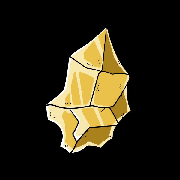 金鉱石の欠片のイラスト