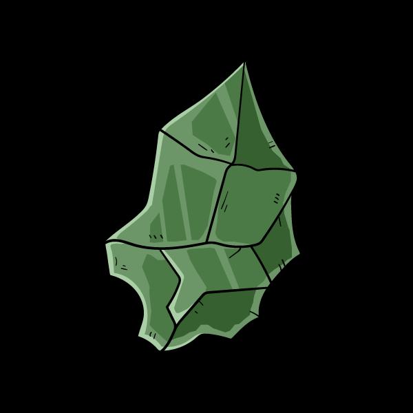 翡翠の欠片のイラスト