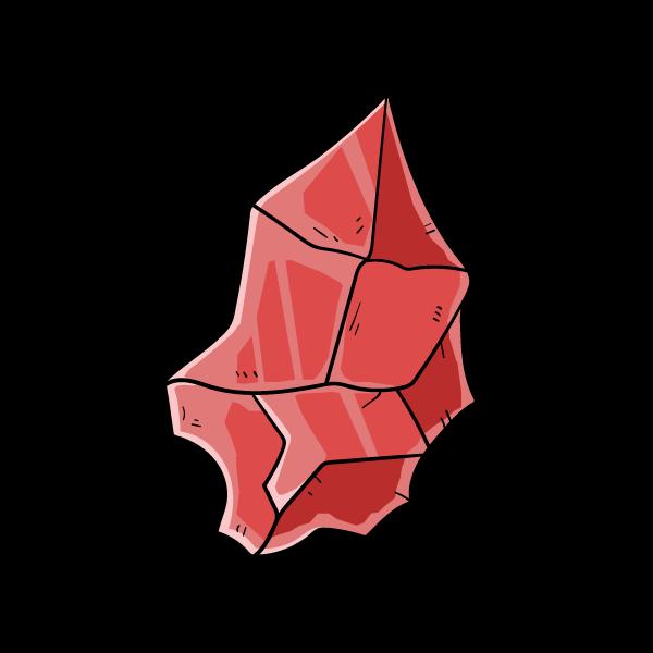 ルビーの欠片のイラスト