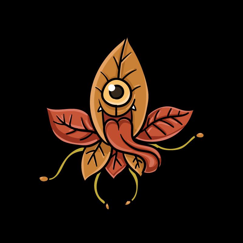 枯れ葉小僧のイラスト