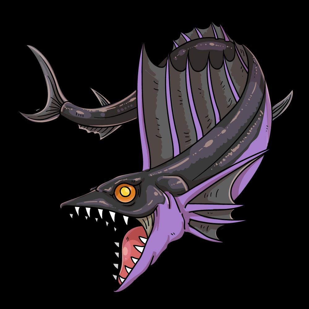 黒龍魚のイラスト