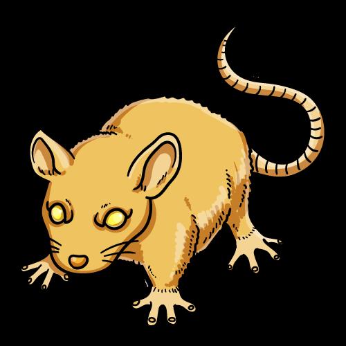 黄金のネズミのイラスト