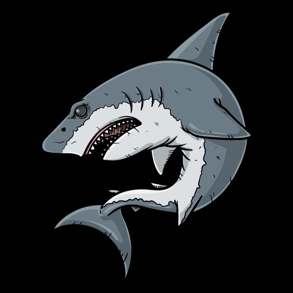 ホホジロザメのイラスト