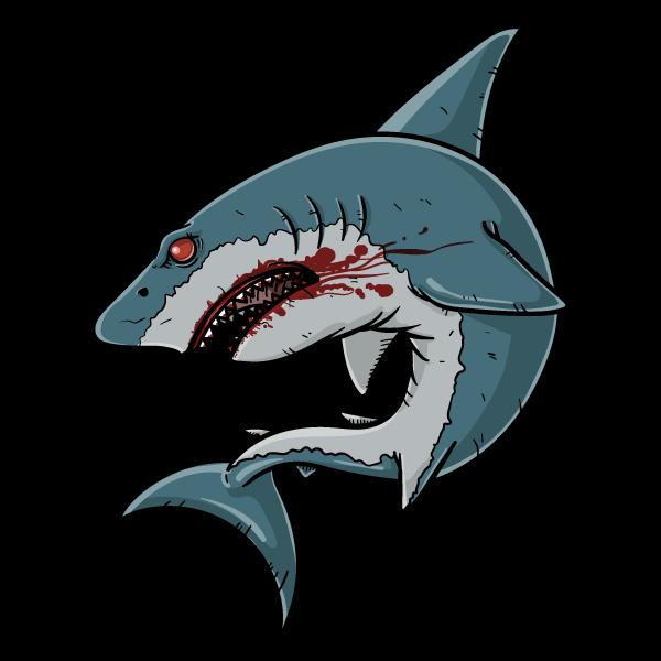 人喰い鮫のイラスト