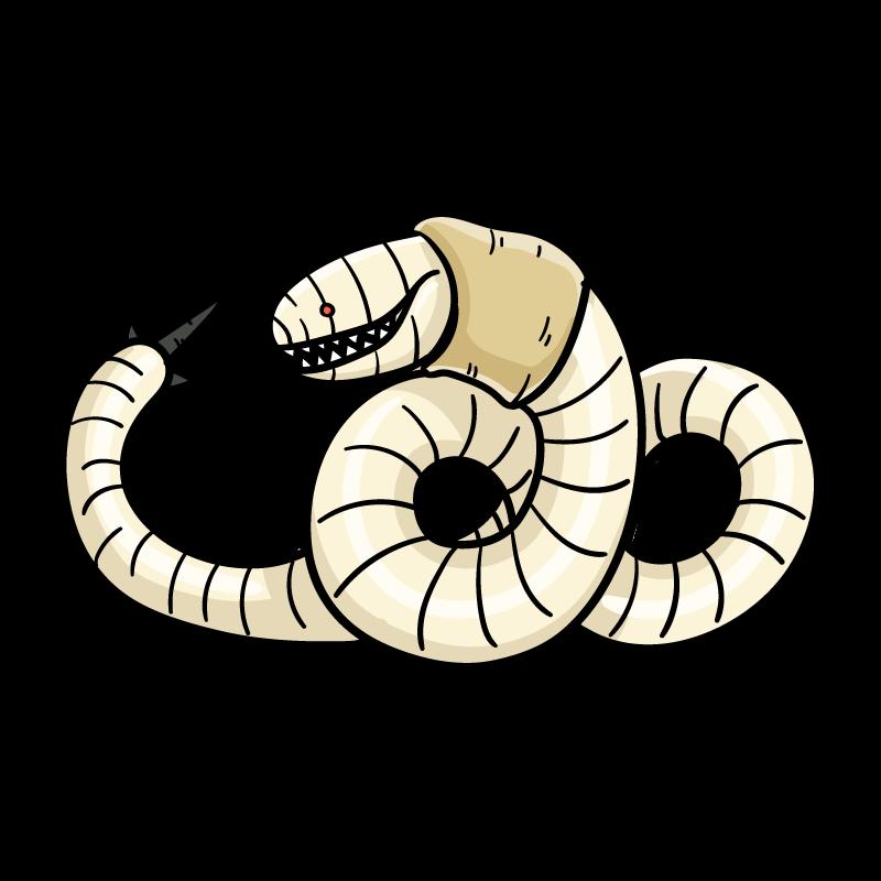 悪魔の幼虫のイラスト